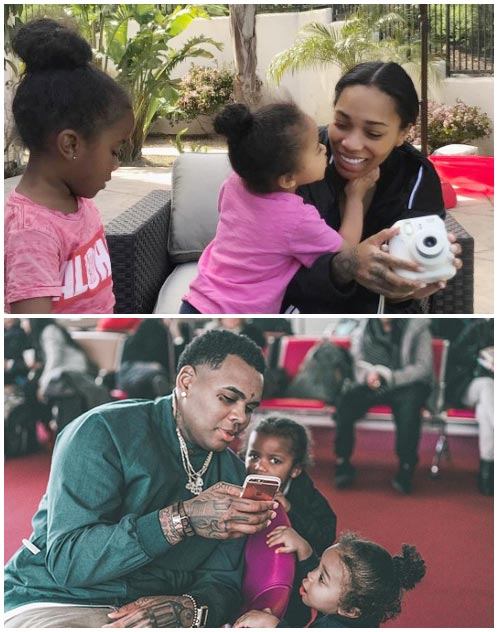 Dreka Gates and her husband Kevin Gates with their kids