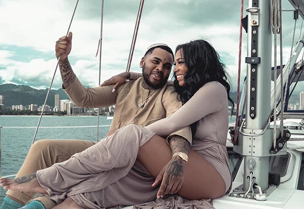 Dreka Gates with husband Kevin Gates shooting a new video in Huwai