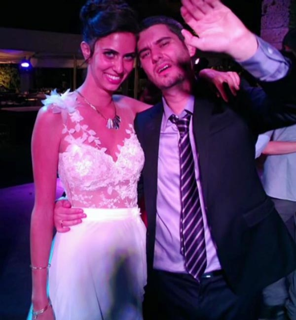 Ethan and Hila at their wedding