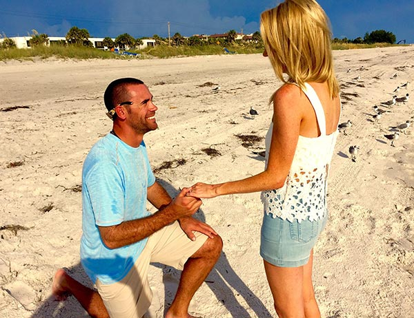 Kayleigh McEnany being proposed by her soon to be husband Sean Gilmartin