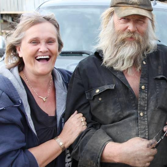 Tony Beets with his wife Minnie Beets