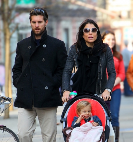 Bethenny Franke and her former husband Jason Hoppy with thier daughter Bryn.