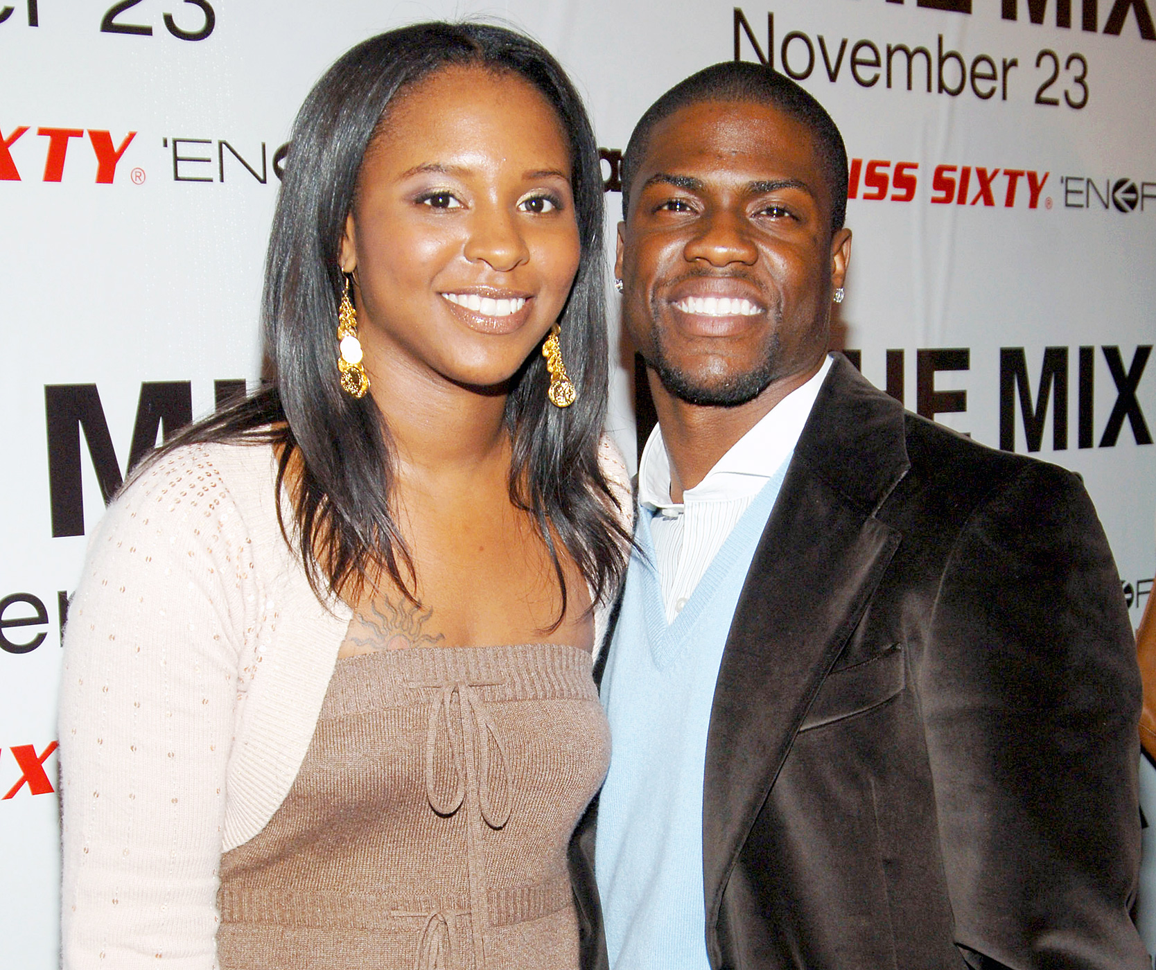 Comedian Kevin Hart and his former wife Torrei, while they got divorced in 2011.