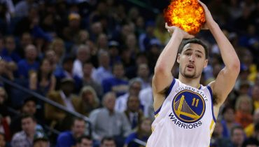 Dangerous basketball player Klay Thompson.