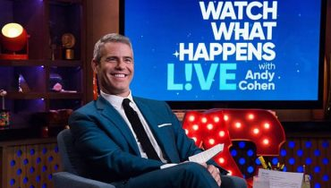 Handsome Host Andy Cohen. during the show.