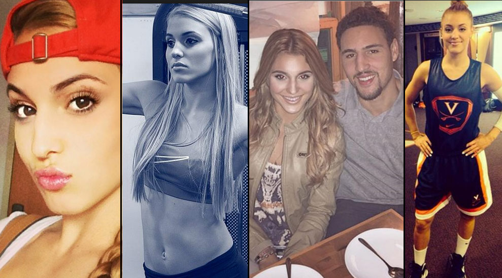 Basketball player icon Klay Thompson with his girlfriend Tiffany.