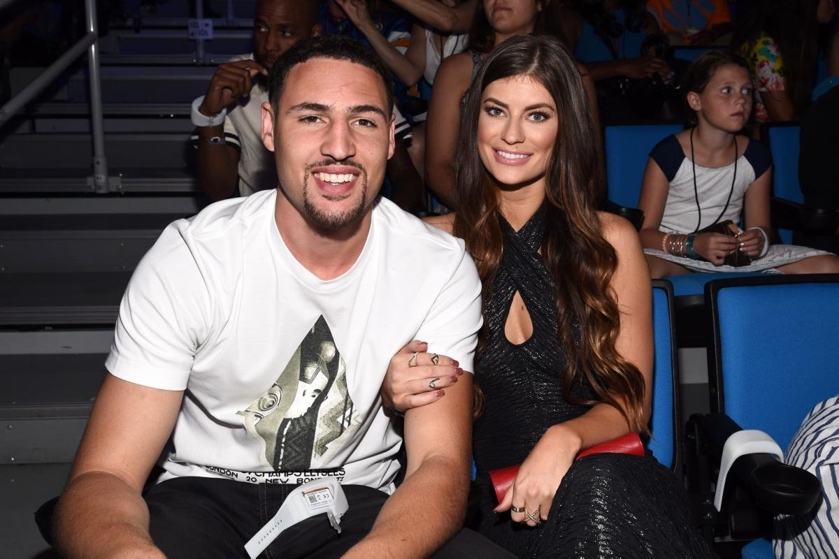 Klay Thompson with his rumored wife Hannah Stocking.