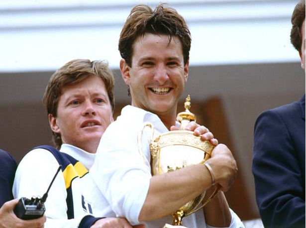 Mark Nicholas, the former Hampshire captain celebrating with Hedges trophy.