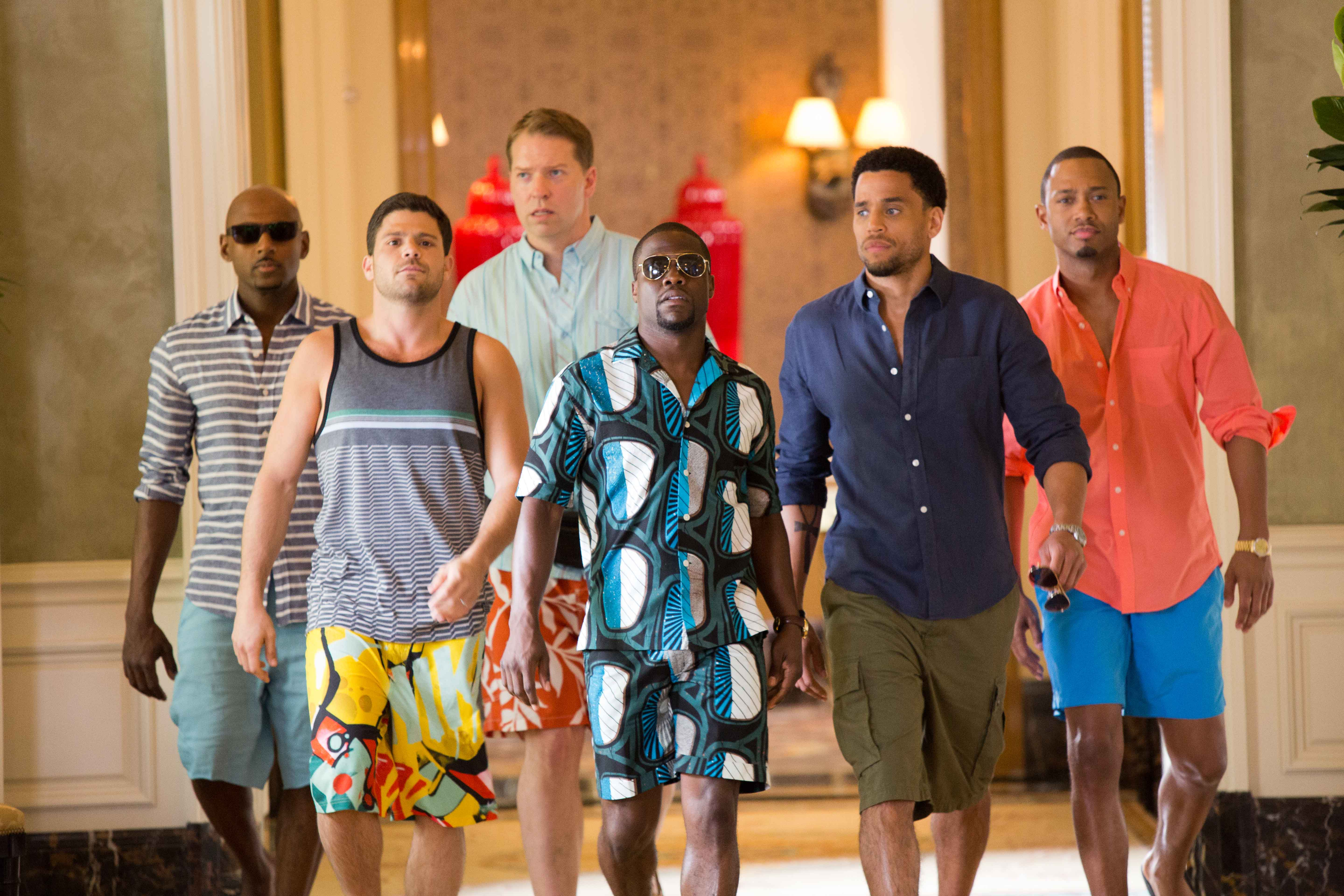 Kevin Hart with his co-actors from the movie Think Like a Man.