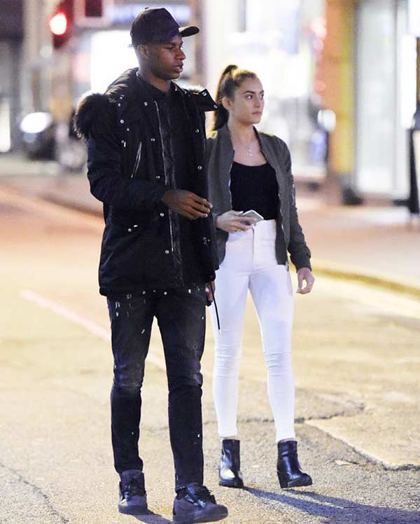 Marcus Rashford was seen outing with his blonde beauty girlfriend