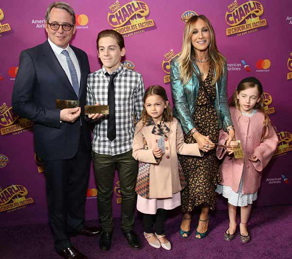 Lovely Family: Matthew Broderick and Sarah Jessica Parker with their kids