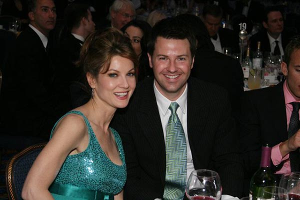 Ron Corning and Jodi Applegate seen together in New York Emmys Program