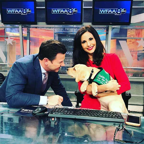 Cute Pictures: Ron Corning smiling pictures with puppy in his show