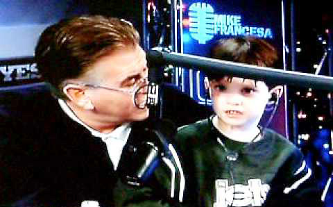 Mike Francesa and his son in the show