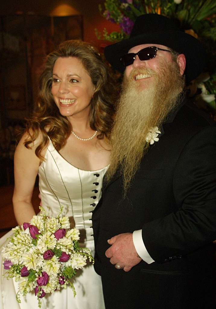 Dusty Hill with friendly, Wife Charleen McCrory