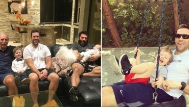 Adam Bilzerian with his family