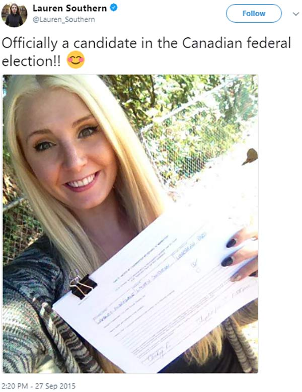 Lauren Southern Canadian Federal Election