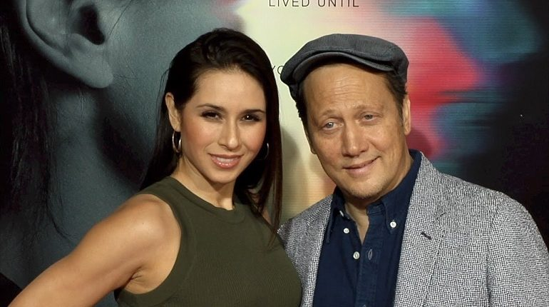 "Patricia with Rob Schneider at""Flatliners"" World Premiere Red Carpet"