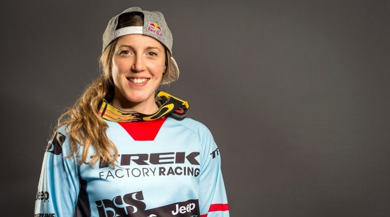 Rachel Atherton poses for a portrait during Red Bull Athlete Summit in London
