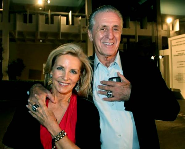 Image of Chris Rodstrom with her husband Pat Riley