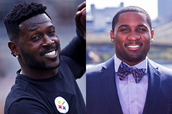 Image of Antonio Brown and his brother Desmond Brown